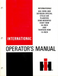 International 800 Cyclo Air Corn and Soybean Special Planter Manual