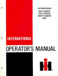 International 800 Plate-Type Central Drive Planter Manual