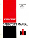 International 800 Plate-Type Planters Manual