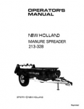 New Holland 213 and 328 Manure Spreader Manual