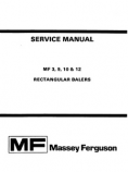 Massey Ferguson 3, 9, 10, and 12 Baler - Service Manual