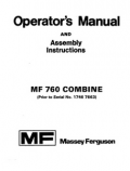 Massey Ferguson 760 Combine Manual