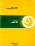 John Deere 213, 215, 216, 218, 220, 222, and 224 Cutting Platform - Parts Catalog