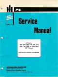 International 454, 464, 484, 574, 584, 674, 684, 784, 884, 84 Hydro and 385 Tractor - Service Manual