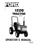 Ford 1220 Tractor Manual