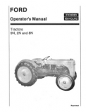 Ford 9N, 2N, and 8N Tractor Manual