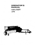 New Holland 276 Hayliner Manual