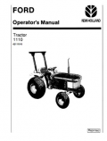 Ford 1110 Tractor Manual