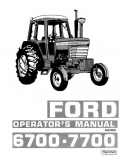 Ford 6700 and 7700 Tractors Manual