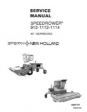 New Holland 912, 1112, 1114 Speedrower - Service Manual