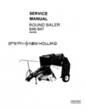 New Holland 846 and 847 Round Baler - Service Manual