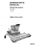 New Holland Speedrower 1112 Manual