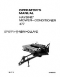 New Holland 477 Haybine Mower-Conditioner Manual