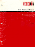 Case IH 8840 Windrower Tractor Manual