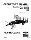 New Holland Stackliner 1003 Automatic Bale Wagon Manual