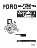 Ford 505 Rear Mounted Mower Manual