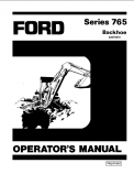 Ford 765 Backhoe Manual