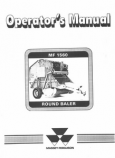 Massey Ferguson 1560 Round Baler Manual