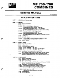 Massey Ferguson 750 and 760 Combines - COMPLETE Service Manual