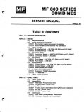 Massey Ferguson 850 and 860 - COMPLETE Service Manual