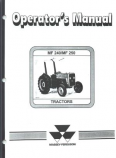 Massey Ferguson 240 and 250 Tractor Manual