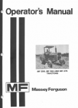 Massey Ferguson 255, 265, and 275 Manual