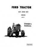 Ford 601, 611, 621, 631, 641, 651, 801, 811, 821, 841, 851, 861, 881 and 1801 Tractor Manual