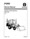 Ford 550 and 555 Tractor-Loader-Backhoe - COMPLETE Service Manual