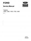 Ford 1200, 1300, 1500, 1700, and 1900 Tractors - Complete Service Manual