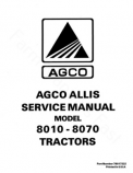 Allis-Chalmers 8010, 8030, 8050, and 8070 Tractors  - COMPLETE SERVICE MANUAL