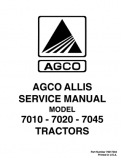 Allis-Chalmers 7010, 7020, and 7045 Tractors  - COMPLETE SERVICE MANUAL