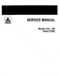 Allis-Chalmers 210 and 220 Tractors  - COMPLETE SERVICE MANUAL