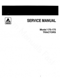 Allis-Chalmers 170 and 175 Tractors  - COMPLETE SERVICE MANUAL