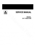 Allis-Chalmers D17 (Including Series II, III and IV) Tractors  - COMPLETE SERVICE MANUAL