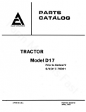 Allis-Chalmers D17 (Series I, II, III, and IV) Tractors  - Parts Manual