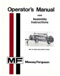 Massey Ferguson 37 Hay Rake Manual