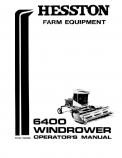 Hesston 6400 Windrower Manual