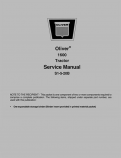 Oliver 1600 Tractor - Service Manual