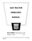 Oliver 1600 Tractor Manual