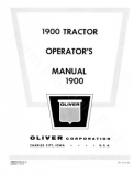 Oliver 1800 and 1900 Tractor Manual