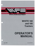 White 160 and 185 Tractor Manual