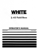 White 2-45 Tractor Manual