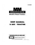 Minneapolis-Moline U-302 Tractor - COMPLETE Service Manual