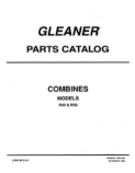 Gleaner R40 and R50 Combine - Parts Book