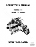 New Holland 166 Hay Baler Manual
