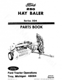 Ford 250 Hay Baler - Parts Catalog