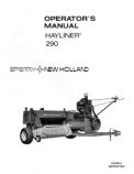New Holland 290 Hay Baler Manual