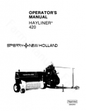 New Holland 420 Hay Baler Manual