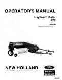 New Holland 426 Hay Baler Manual
