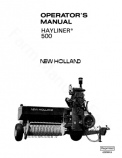 New Holland 500 Hay Baler Manual
